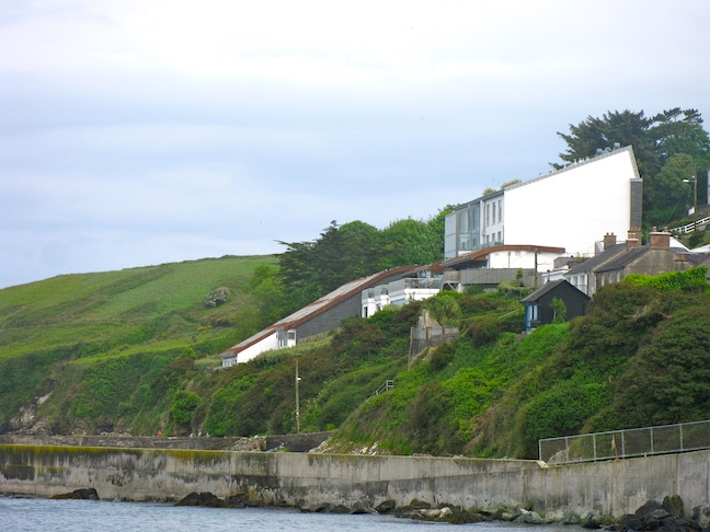 cliff house hotel in ireland built into the rock face