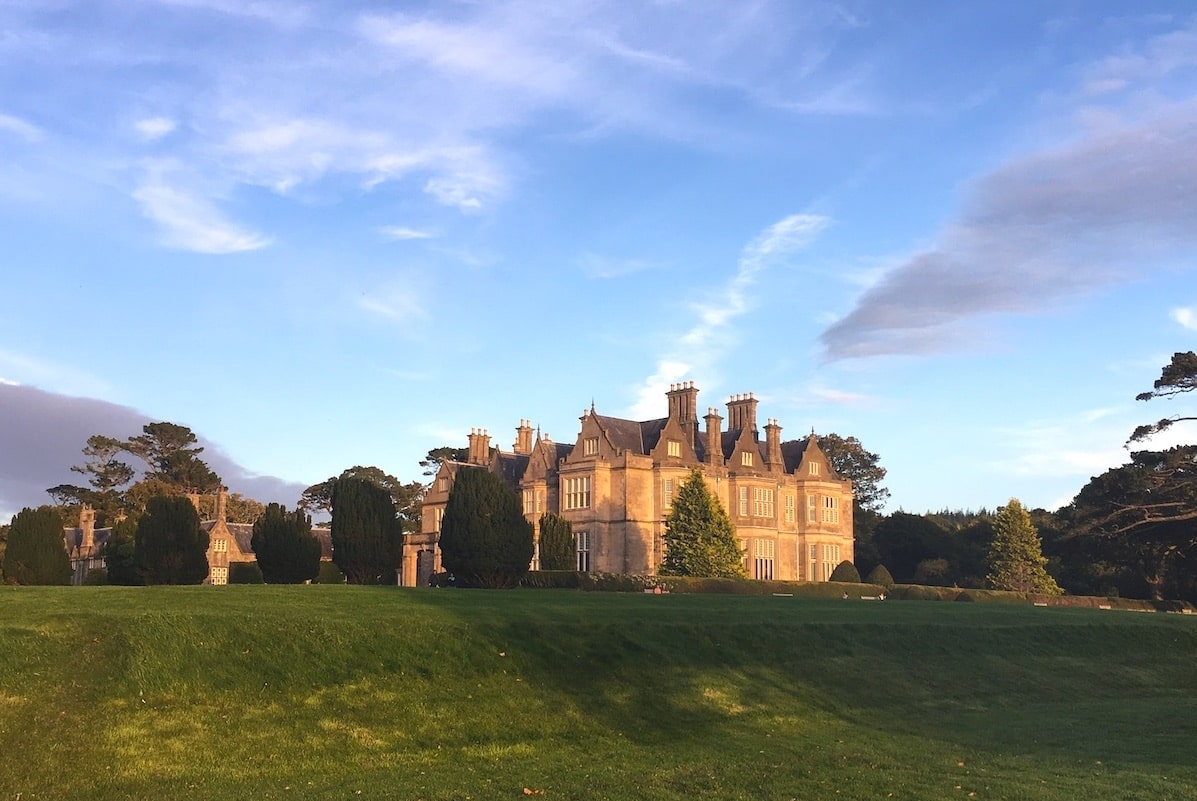 view of muckross house in killarney national park from the grounds