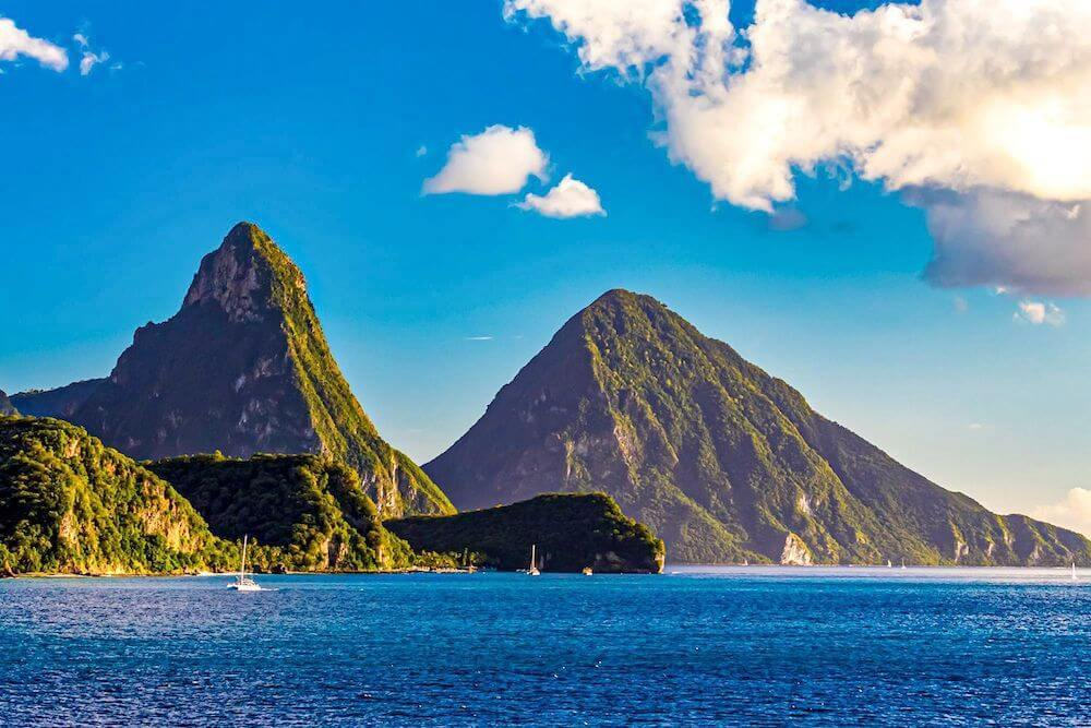 Dramatic mountains in St Lucia